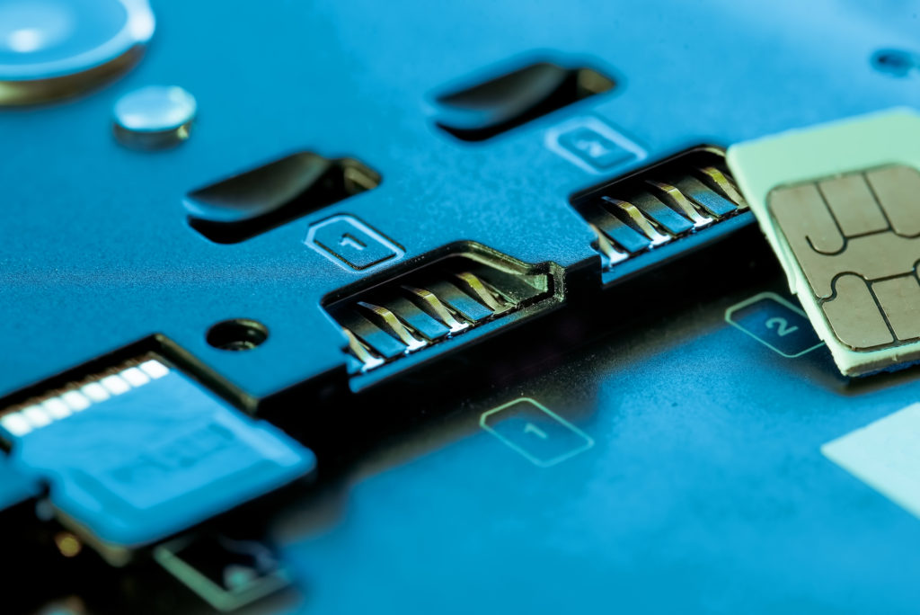 Close up of sim slots so users know how to swap a new sim card with the same number